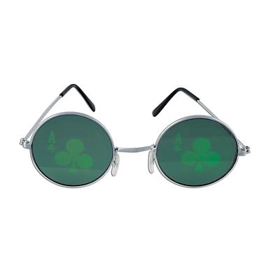 Beistle Adjustable Casino Club Fanci-Frame, Dark Green/Silver