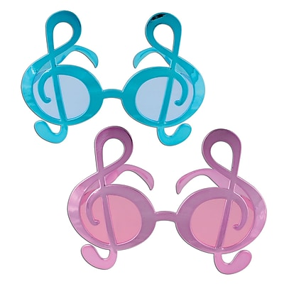 Beistle G Clef Fanci-Frame, Pink/Turquoise, 6/Pack
