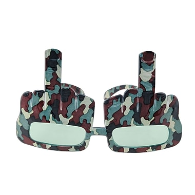 Camo Redneck Salute Fanci-Frames, One Size Fits Most, 2/Pack