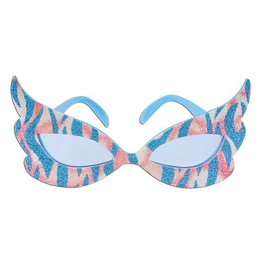Beistle Glittered Rock and Roll Diva Fanci-Frame, Pink/Blue, 2/Pack