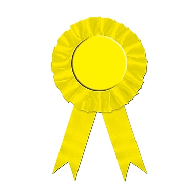 Ruban de récompense jaune, 3 3/4 x 6 1/2 po, paquet de 4