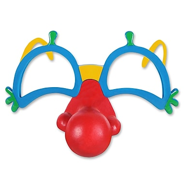 Clown Glasses With Nose, 2/Pack