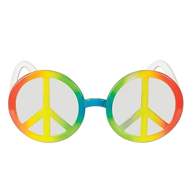 Lunettes Fanci-Frames symbole de la paix, taille quasi universelle, 2/paquet