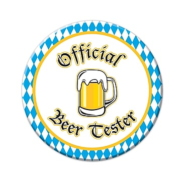 Official Beer Tester Button, 3 1/2