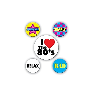 80's Party Buttons, 2-1/3