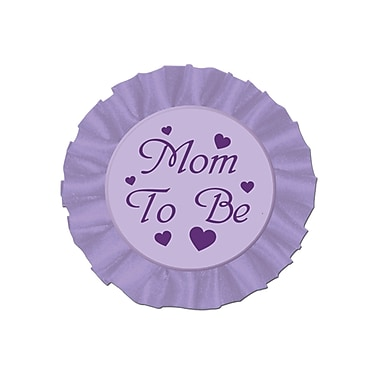 Macaron satiné « Mom to Be », 3 1/2 po, paquet de 4