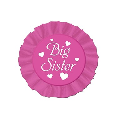 Big Sister Satin Button, 3-1/2
