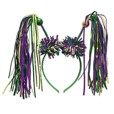 Beistle Adjustable Firework Boppers, Green/Gold/Purple