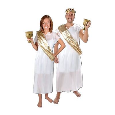 Beistle Toga Set, White/Gold