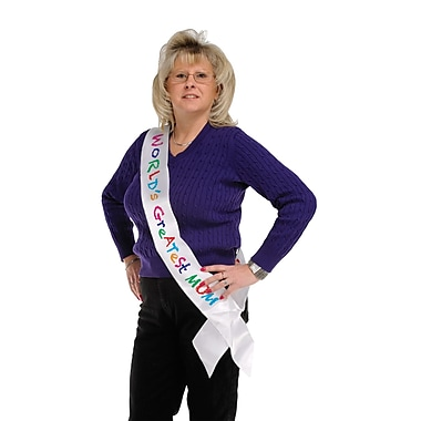 World's Greatest Mom Satin Sash, 33