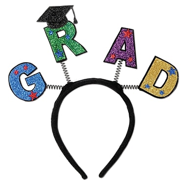 Beistle Adjustable Glittered Grad Boppers, Assorted
