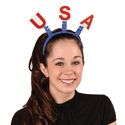 Beistle Adjustable USA Boppers, Red/Blue/White
