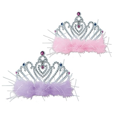 Plastic Princess Tiaras, One Size Fits Most, 4/Pack