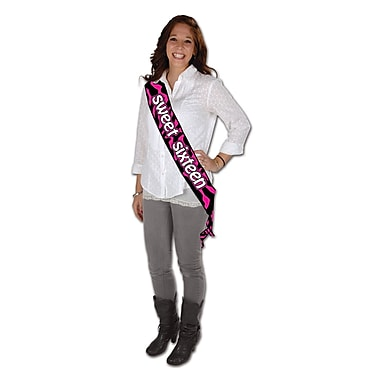 Sweet Sixteen Satin Sash, 33