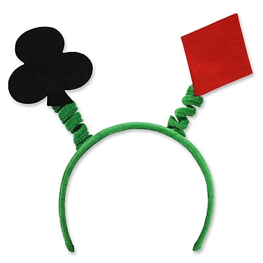 Beistle Adjustable Card Suit Boppers, Black/Red/Green