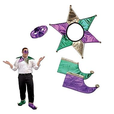 Ensemble d'accessoires pour bouffon de Mardi Gras, taille unique, 2 ensembles
