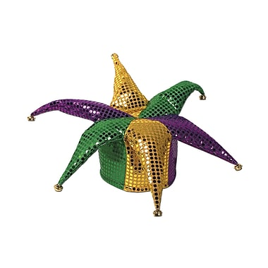 Glitz 'N Gleam Jester Hat, One Size Fits Most, 2/Pack