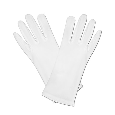 Gants de théâtre, taille universelle, blanc, 6 paires