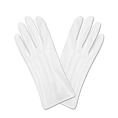 Gants de théâtre de luxe, taille universelle, blanc, 3 paires