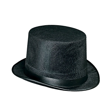 Vel-Felt Top Hat, One Size Fits Most, Black, 2/Pack