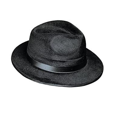Vel-Felt Fedora, One Size Fits Most, Black, 2/Pack
