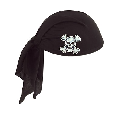 Pirate Scarf Hat, One Size Fits Most, Black, 3/Pack