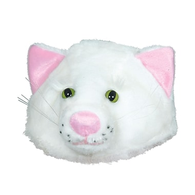 Plush Cat Head-Hat, One Size Fits Most, 2/Pack