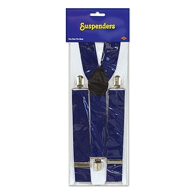 Suspenders, One Size Fits Most, Blue, 2/Pack