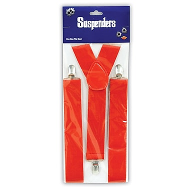 Suspenders, One Size Fits Most, Red, 2/Pack