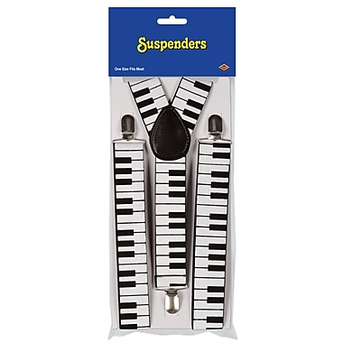 Piano Keyboard Suspenders, One Size Fits Most, 2/Pack