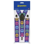Beistle Peace Sign Suspenders, 2/Pack