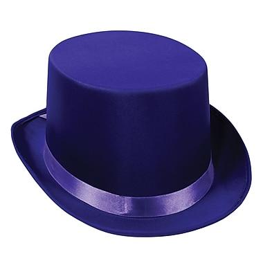 Chapeau haut de forme satiné, taille unique, violet, paq./2