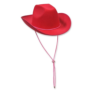 Felt Cowboy Hat, One Size Fits Most, Cerise, 2/Pack