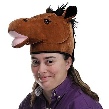 Plush Horse Head Hat, One Size Fits Most