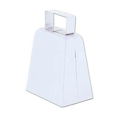 Cloches à vache blanches, 4 po, paquet de 12