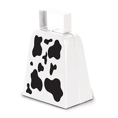Cloches à vaches à imprimé de vache, 4 pi, 3/paquet