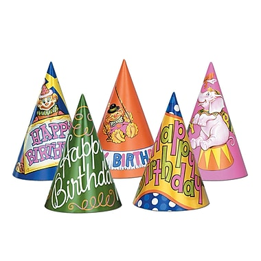 Happy Birthday Hats, 6-1/2