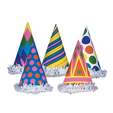 Fringed Party Hats, 6-1/2