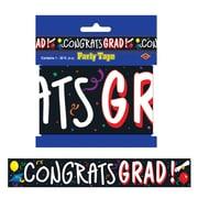 Ruban de fête « Congrats Grad », 3 po x 20 pi, paquet de 5