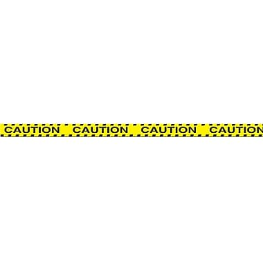 Ruban de fête « Caution », 3 po x 20 pi, 5/paquet