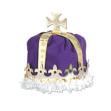 Royal King's Crown, One Size Fits Most, Purple, 2/Pack