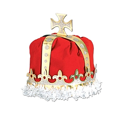 Royal King's Crown, One Size Fits Most, Red, 2/Pack