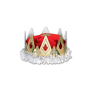 Royal Queen's Crown, One Size Fits Most, Red, 2/Pack