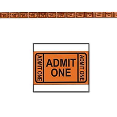 Admission Ticket Tape Poly Decorating Material, 3
