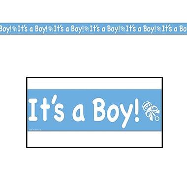 Ruban d'anniversaire bleu « It's a Boy »!, 3 po x 20 pi, paquet de 5