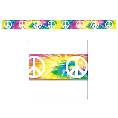 Tie-Dyed Peace Sign Party Tape, 3