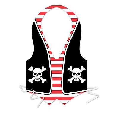 Plastic Pirate Vest, One Size Fits Most, 4/Pack