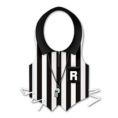 Plastic Referee Vest, One Size Fits Most, 4/Pack