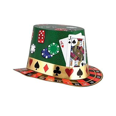 Chapeau Hi-Hat pour soirée casino, taille unique, paq./25