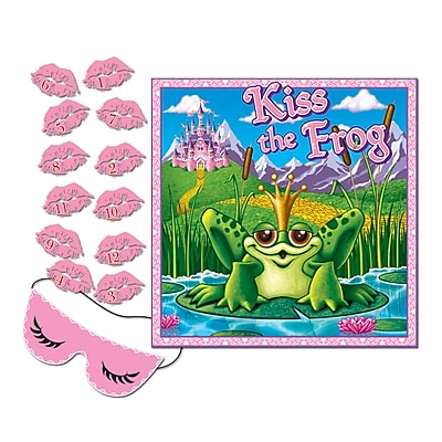 """""Beistle 17 1/2"""""""" x 19 1/2"""""""" Kiss The Frog Party Game, 7/Pack"""""" 1070242"